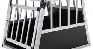 51j+EoDaiTL 310x165 - Jalano Hundebox aus Aluminium für den Transport Kleiner Hunde Auto Gitterbox mit geneigter Rückseite für PKW Kofferraum