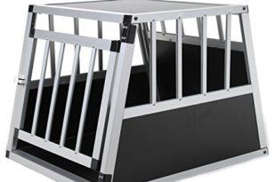 51j+EoDaiTL 310x205 - Jalano Hundebox aus Aluminium für den Transport Kleiner Hunde Auto Gitterbox mit geneigter Rückseite für PKW Kofferraum