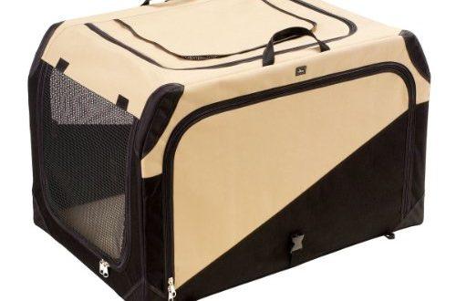 HUNTER Hundetransportbox Autobox strapazierfaehig zusammenklappbar 76 x 51 x 48 500x330 - HUNTER Hundetransportbox, Autobox, strapazierfähig, zusammenklappbar, 76 x 51 x 48 cm, beige/schwarz