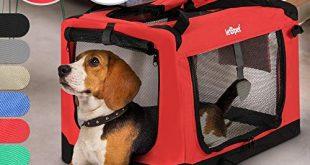Hundebox aus Stoff S bis XXL Faltbar Tragbar Abwaschbar 310x165 - Hundebox - aus Stoff, S bis XXL, Faltbar, Tragbar, Abwaschbar, Größenwahl, Farbwahl - Hundetransportbox, Auto Transportbox, Katzenbox für Hunde, Katzen und Kleintiere (L (15.9kg/71x53x51cm), Rot)