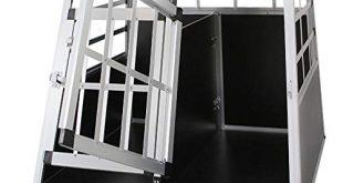 Froadp Alu Hundebox Hundetransportbox Reisebox Transportbox Gitterbox mit 2 Tuerig fuer 310x165 - Froadp Alu Hundebox Hundetransportbox Reisebox Transportbox Gitterbox mit 2-Türig für Haustier(89x69x51cm)