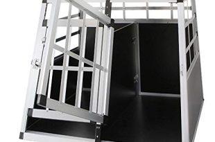 Froadp Alu Hundebox Hundetransportbox Reisebox Transportbox Gitterbox mit 2 Tuerig fuer 310x205 - Froadp Alu Hundebox Hundetransportbox Reisebox Transportbox Gitterbox mit 2-Türig für Haustier(89x69x51cm)
