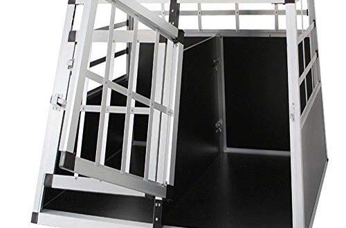 Froadp Alu Hundebox Hundetransportbox Reisebox Transportbox Gitterbox mit 2 Tuerig fuer 500x330 - Froadp Alu Hundebox Hundetransportbox Reisebox Transportbox Gitterbox mit 2-Türig für Haustier(89x69x51cm)